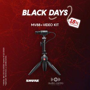 MIC DIGITAL  PC/MÓVIL  SHURE MOTIV MV88+ VIDEO KIT