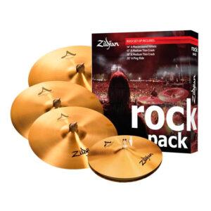 SET PLATILLOS ZILDJIAN A0801R ROCK MUSICPACK