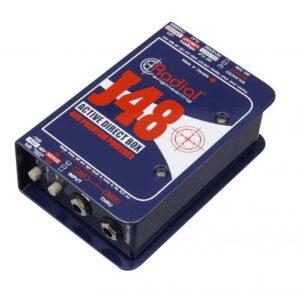 CAJA DIRECTA RADIAL J48 ACTIVA SENCILLA