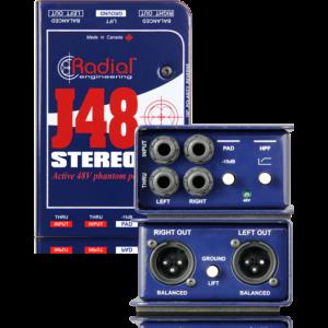 <span>RADIAL</span>CAJA DIRECTA RADIAL J48 STEREO ACTIVA